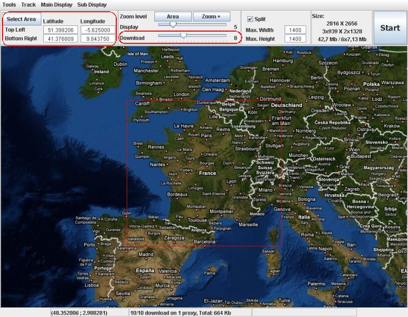 Noni GPSPlot - Google map satellite zoom